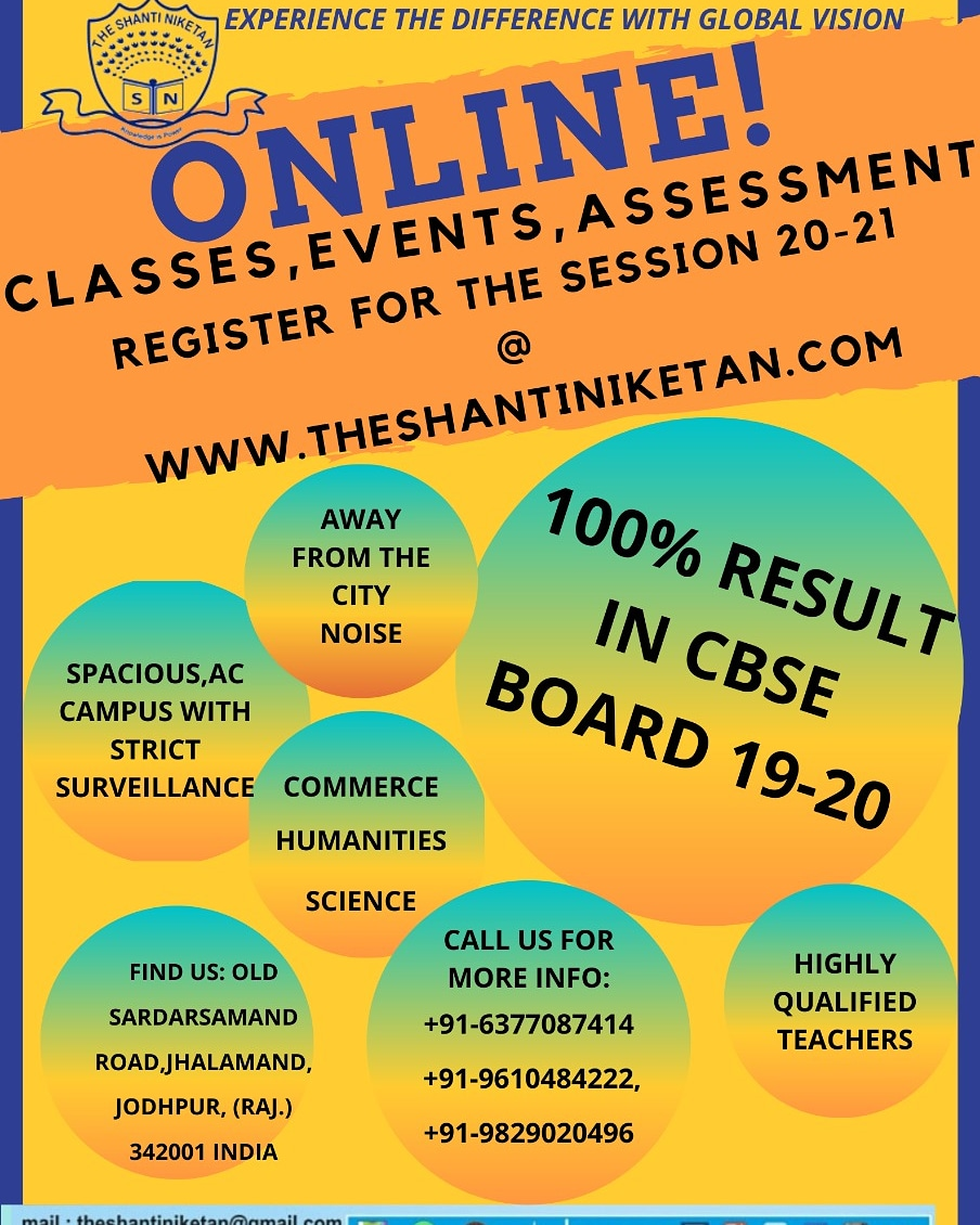 Online study & Admissions Open